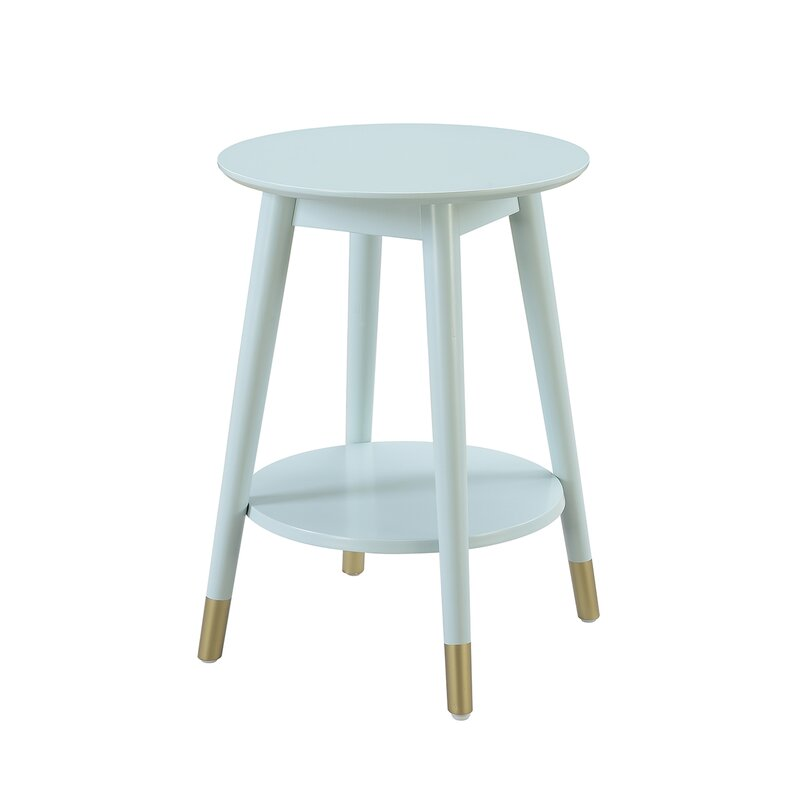 Turn on the Brights  Makenna End Table Color: Sea Foam