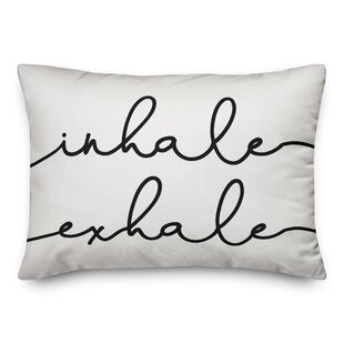 Maddison Inhale Exhale Yoga Lumbar Pillow