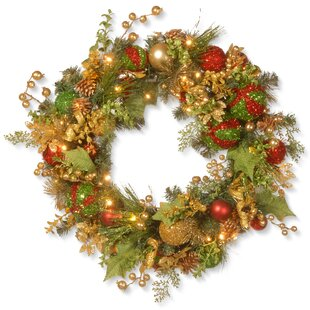 30 decorated christmas lighted wreath