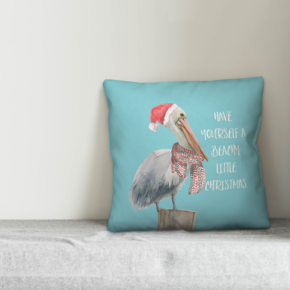 The Holiday Aisle Janiyah Beachy Little Christmas Throw Pillow Wayfair