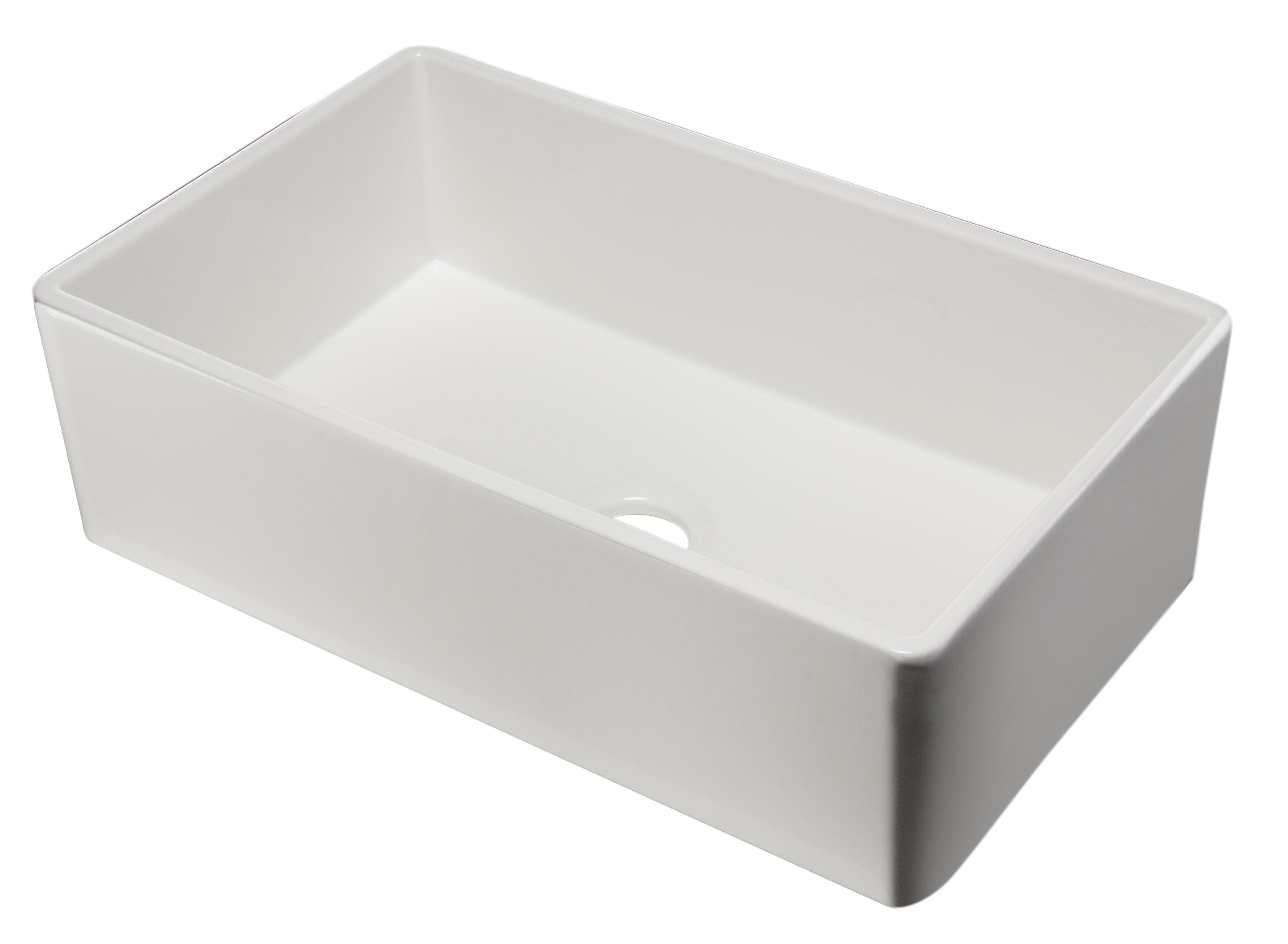 Ab533 W 33 L X 20 Single Bowl Fireclay Farmhouse Kitchen Sink