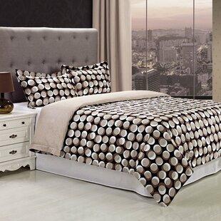 Monroe 3 Piece 100% Egyptian-Quality Cotton Reversible Duvet Cover Set