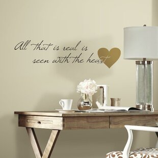 Charming Heart Quote Peel And Stick Wall Decal