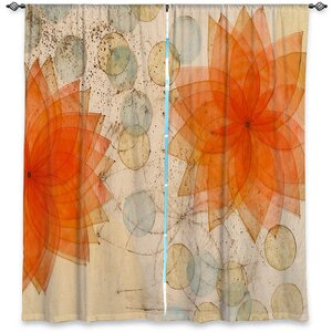 Nature/Floral Room Darkening Rod Pocket Curtain Panels (Set of 2)