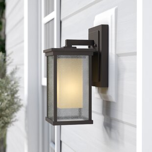 Reviews Oakhill 1-Light Metal Outdoor Wall Lantern By Charlton Home