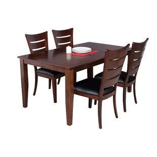 Haan Modern 5 Piece Solid Wood Dining Set Red Barrel Studio
