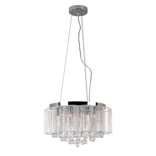TransGlobe Lighting Veiled 8-Light Drum C..