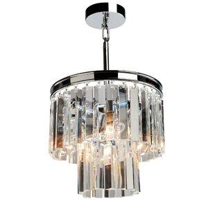 Rosdorf Park Bindera 3-Light Crystal Pendant