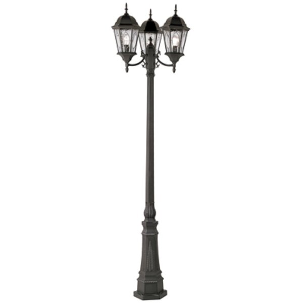 Cross Bar Arm Replacement for Light Post Black Cast Aluminum Ball Ends Included