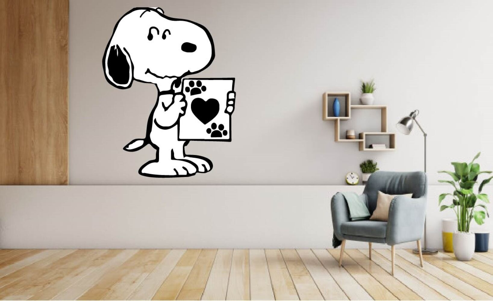 Design With Vinyl Snoopy Dog Paw Print Peanuts Vinyl Wall Decal Wayfair