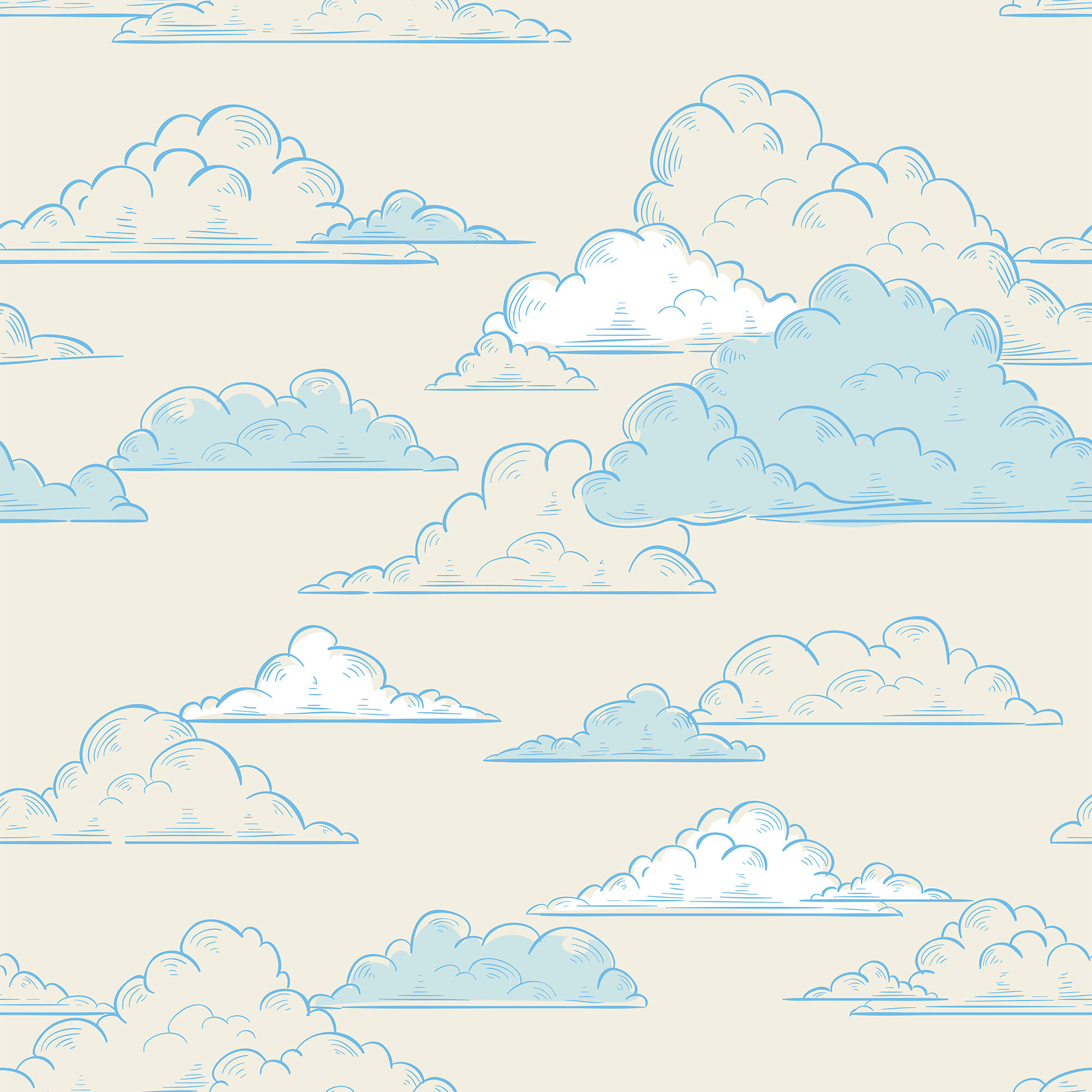 Red Barrel Studio Kearse Clouds Children Removable Peel And Stick Wallpaper Panel Wayfair