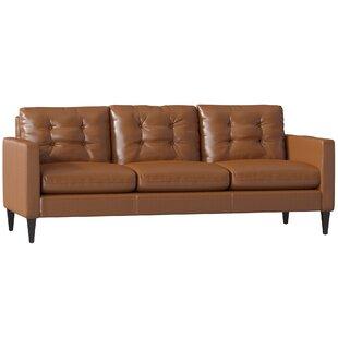 Goodyear Leather Sofa by Mercury Row