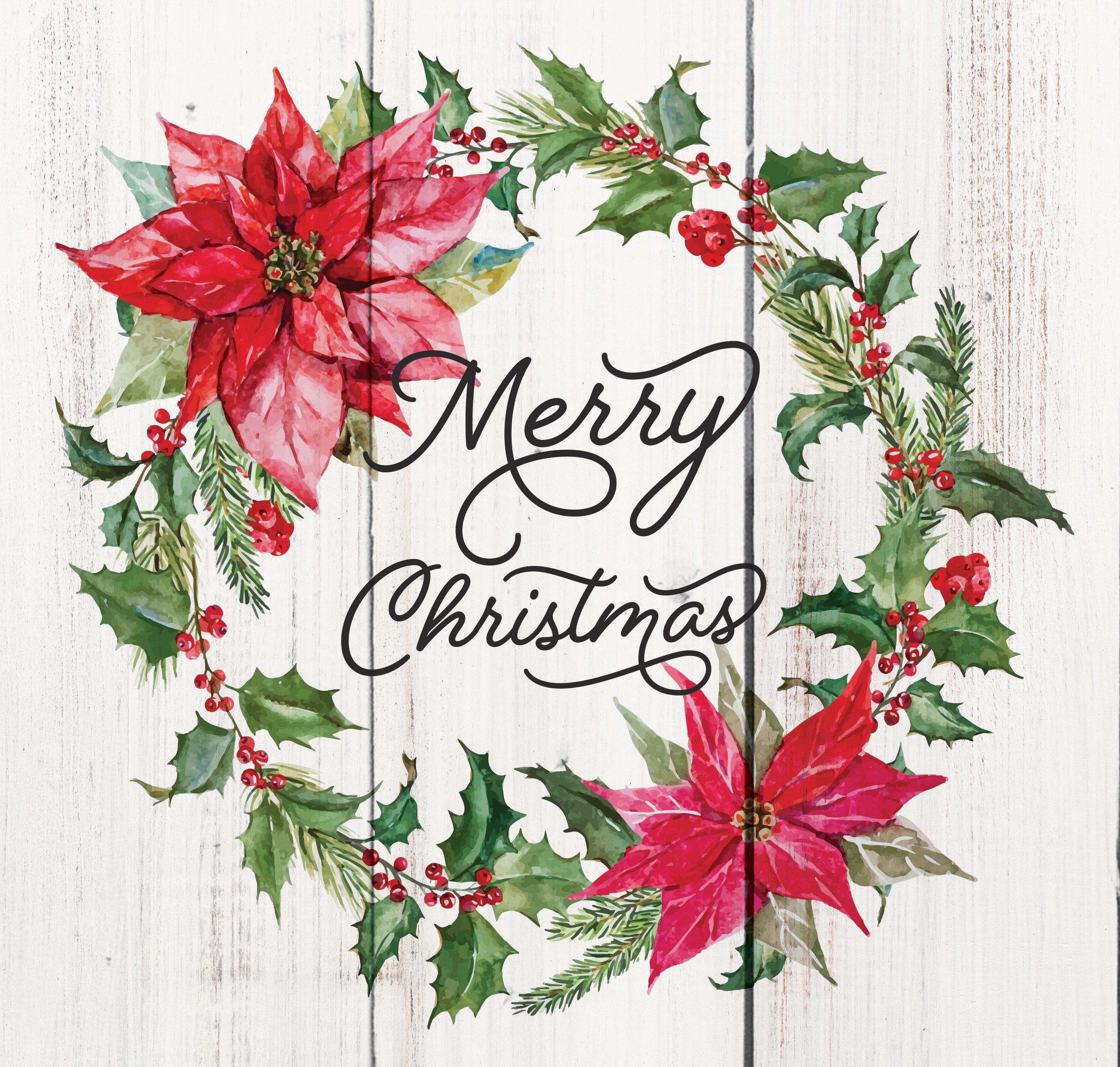 Merry Christmas Pallet Decor