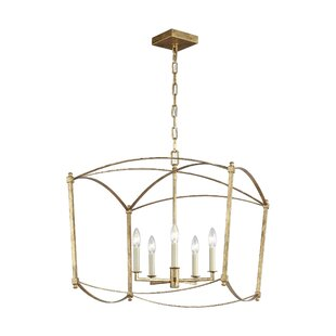 Macon 5-Light Geometric Chandelier by Ophelia & Co.