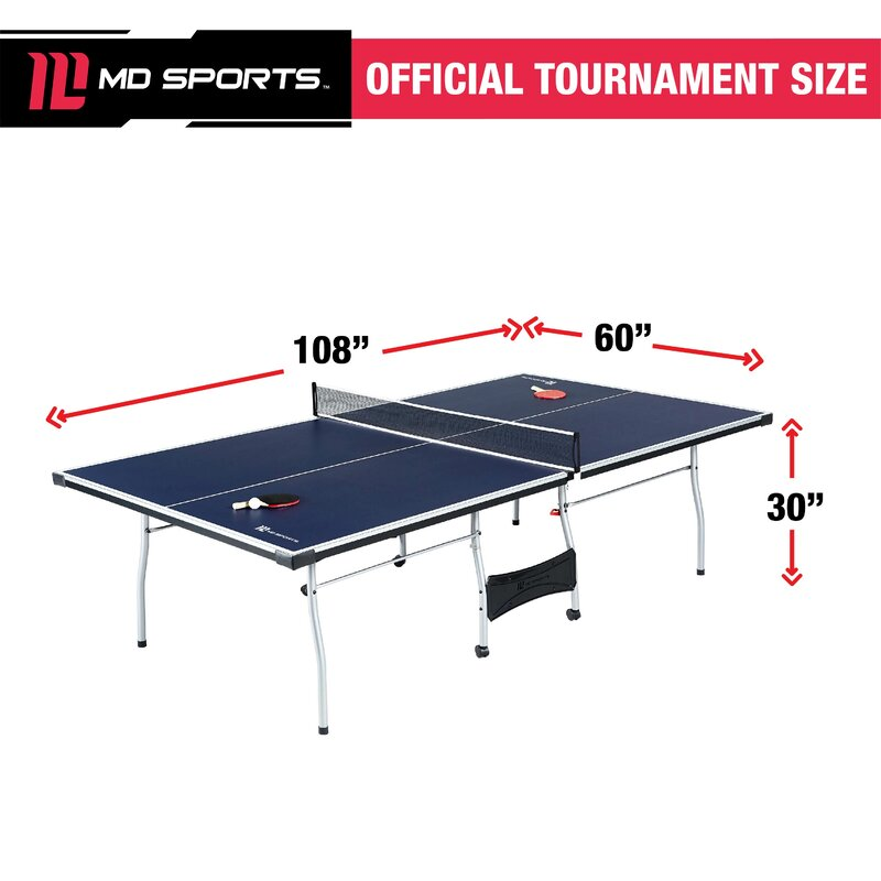 dae01e66b MD Sports Official Size Playback Table Tennis Table with Accessories    Reviews