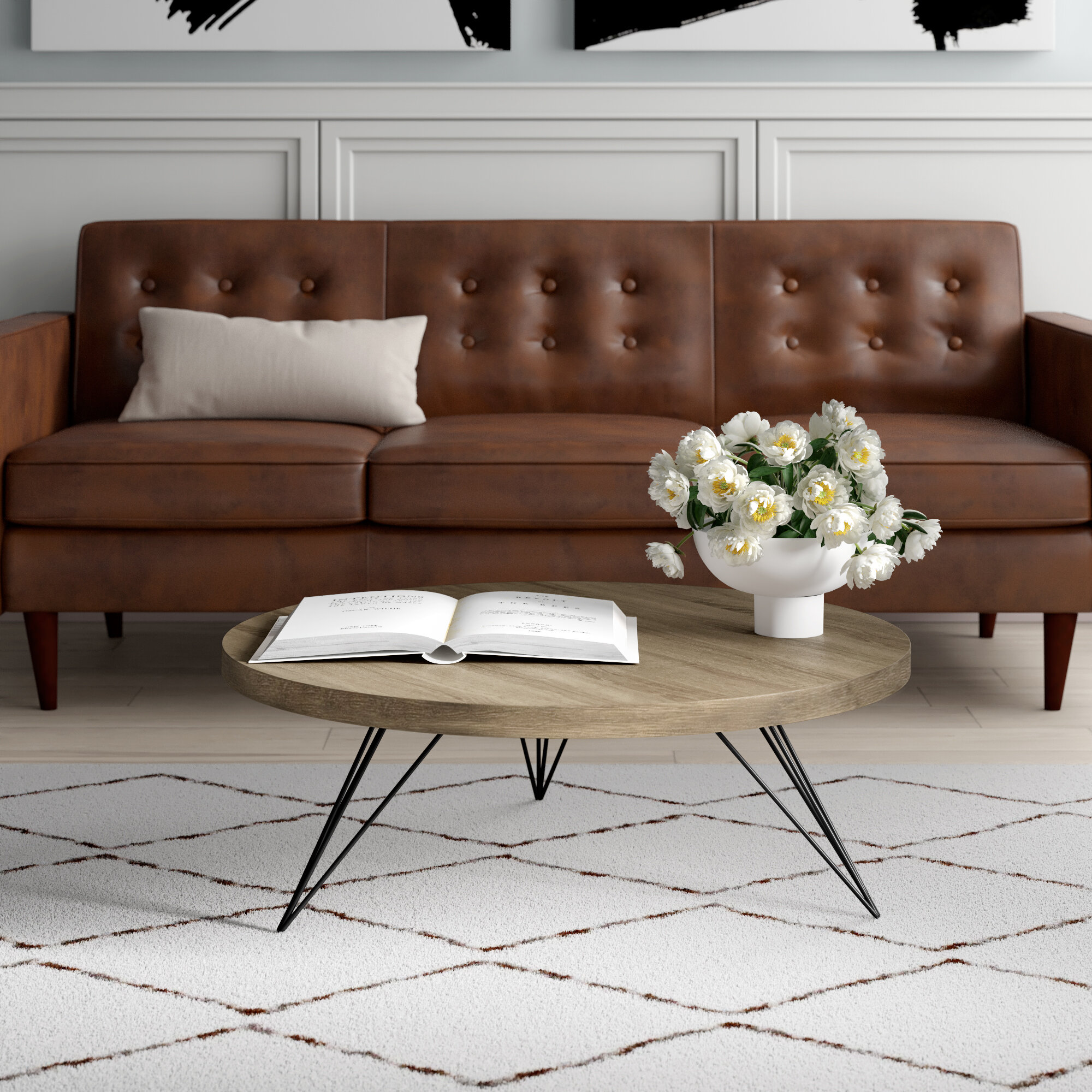 Treece Coffee Table With Tray Top