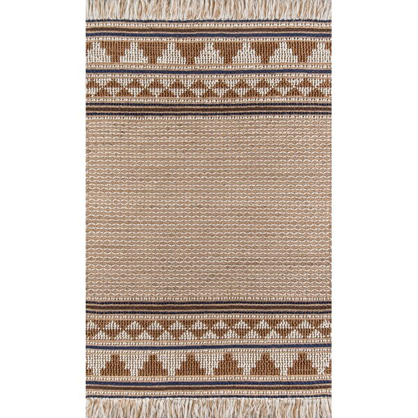 Alberta Handmade Flatweave Ivory Brown Rug Reviews Joss Main