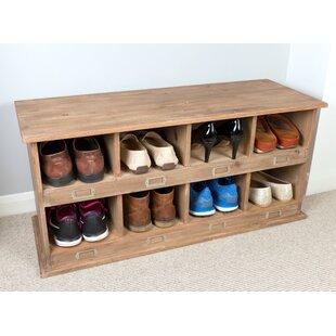 Idell School Locker Style Wood Storage Bench