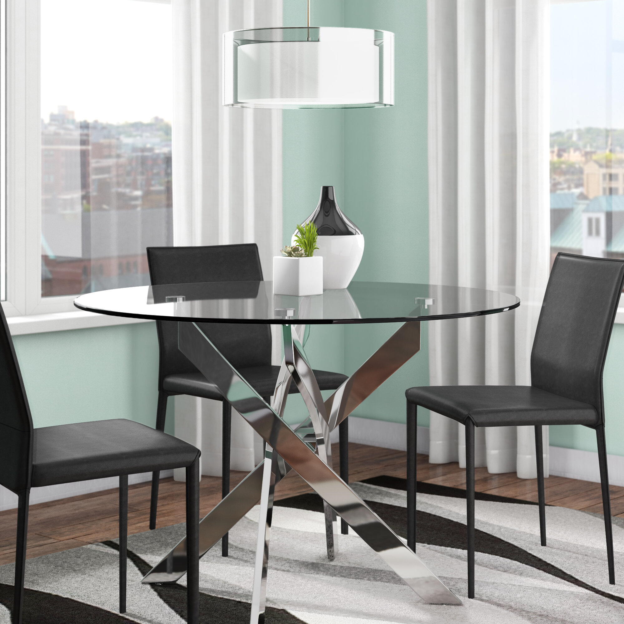 Picture of: Glass Modern Contemporary Kitchen Dining Tables You Ll Love In 2020 Wayfair