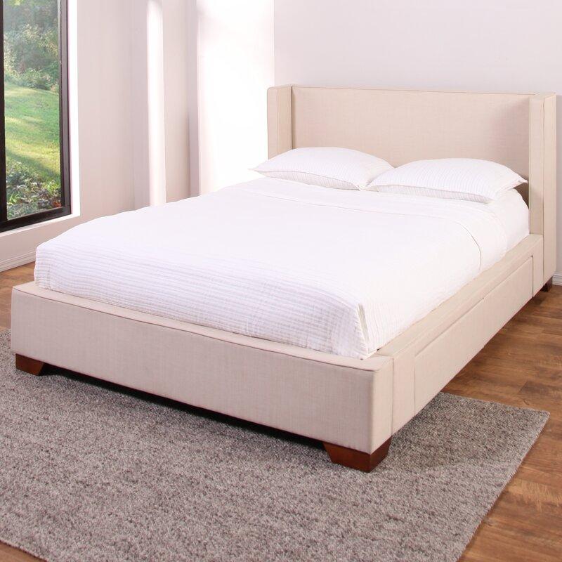 Brayden Studio Wayde Upholstered Storage Platform Bed Reviews Wayfair