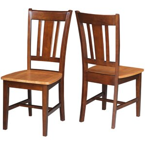 Malcolm Slat Back Solid Wood Dining Chair (Set of 2) by August Grove