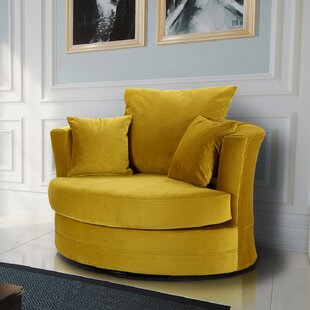 Ashburt Swivel Tub Chair By Canora Grey