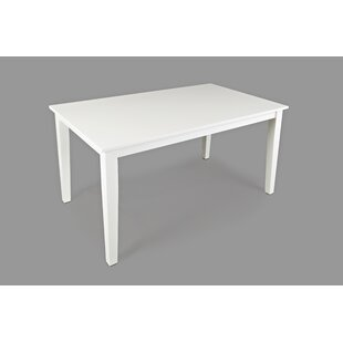 Newcastleton Wooden Dining Table Highland Dunes