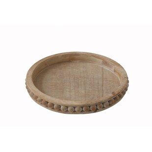 Brashear Round Wood Coffee Table Tray
