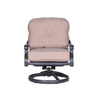 Fleur De Lis Living Bean Club Patio Chair with Cushion