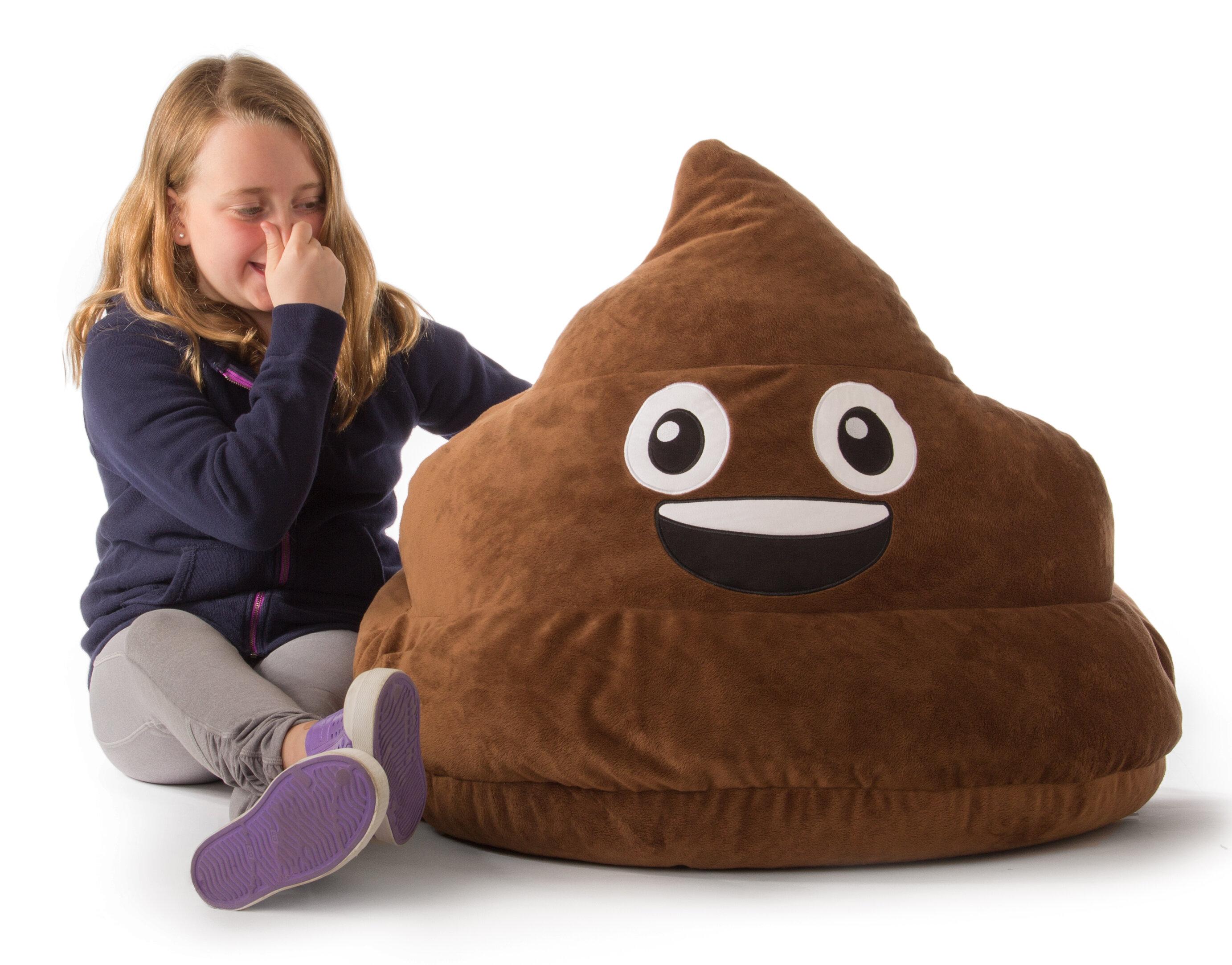 Ace Casual Furniture GoMoji Emoji Poo Bean Bag Chair U0026 Reviews | Wayfair