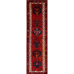 One Of A Kind Kinzel Lori Shiraz Persian Hand Knotted Runner 4 X 14 Wool Red Area Rug