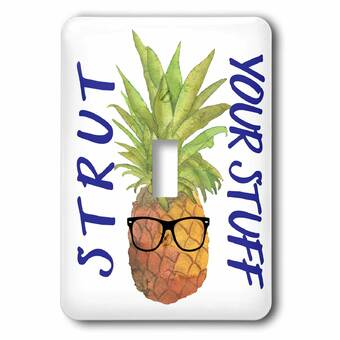 Prim Painted Pineapple Decorative Plate