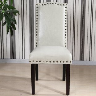 Castilian Leather Upholstered Dining Chair (Set Of 2) Cheap