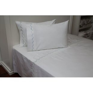 Pfeffer Scalloped 300 Thread Count 100% Cotton Sheet Set