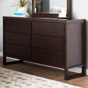 Lambertville 6 Drawer Dresser by Wade Logan