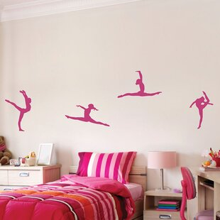4 Piece Gymnastics Wall Decal Set