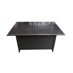 South Beach Stainless Steel Propane Gas Fire Pit Table by JJ Designs