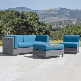 Devito 4 Piece Rattan Sofa Seating Group with Cushions