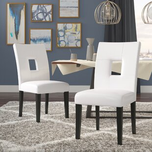 Oakely Keyhole Solid Wood Dining Chair (Set of 2)