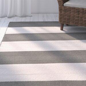 Ranier Stripe Hand-Woven Grey Indoor/Outdoor Area Rug