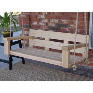 Kira Cedar Rope Porch Swing