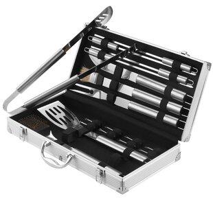 BBQ 18-Piece Grilling Tool Set By VonHaus