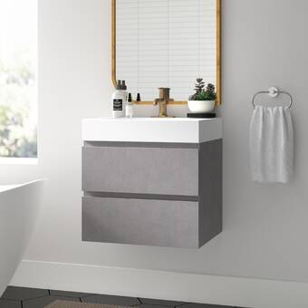 Union Rustic Wayman 24 Wall Mounted Single Bathroom Vanity With Mirror Wayfair