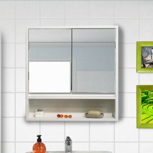 Montreal 22.1 x 22.8 Surface Mount Framed Medicine Cabinet by Evideco