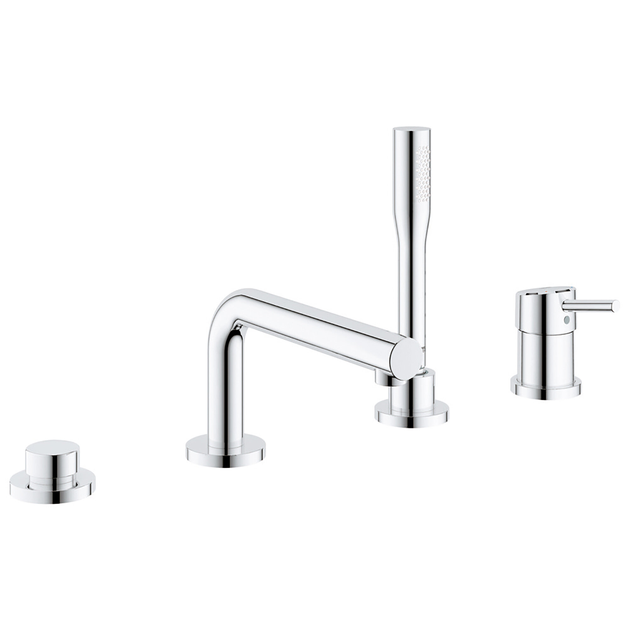 Grohe Concetto Single Handle Deck Mounted Roman Tub Faucet Trim With Diverter And Handshower Wayfair