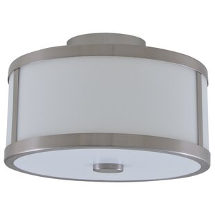 Uptown 2-Light Semi Flush Mount by DVI