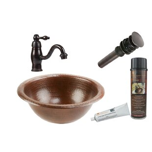 Big Save Metal Circular Drop-In Bathroom Sink with Faucet ByPremier Copper Products