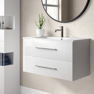 B.Clever 90cm Wall Mounted Vanity Unit By Fackelmann