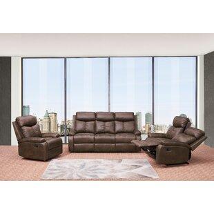 Red Barrel Studio Douglass Circle Reclining 3 Piece Living Room Set