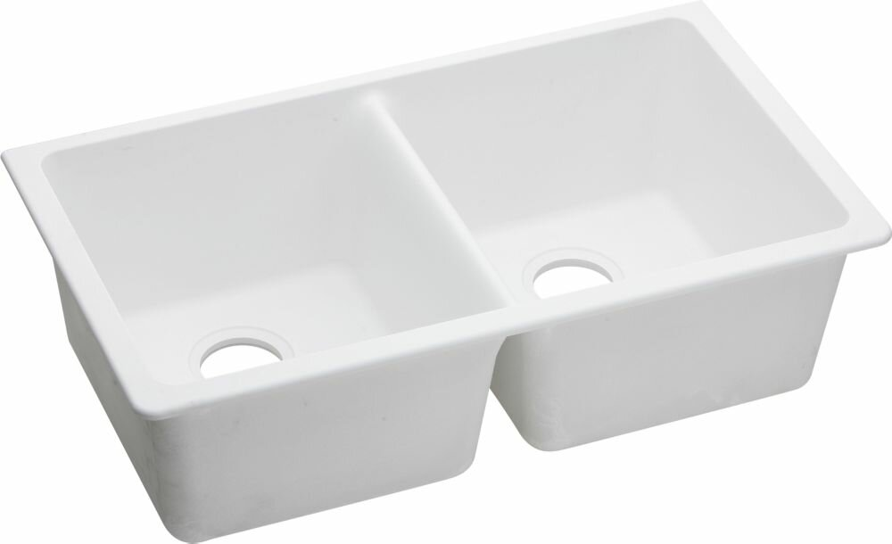"White Undermount Kitchen Sink elkay quartz classic 33"" x 18.75"" undermount kitchen sink"